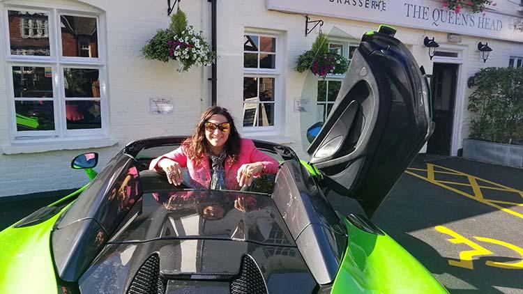 McLaren 570 Spyder Mantis Green Supercar Butterfly doors Gracie Opulanza Versace Dita Eyewear