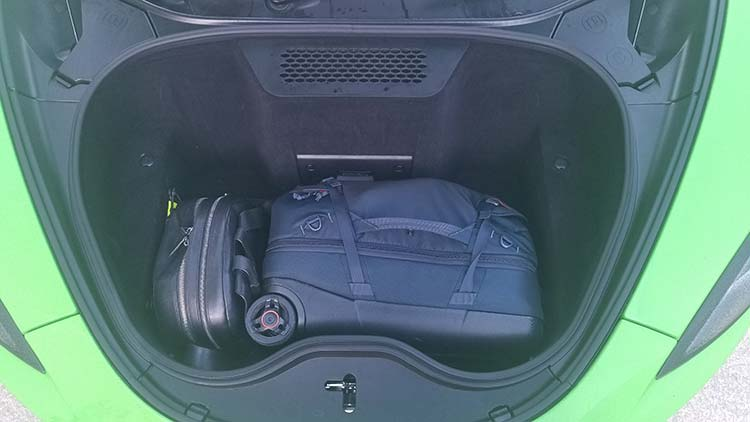 Regarding boot space, there was plenty of it considering it's a Supercar.