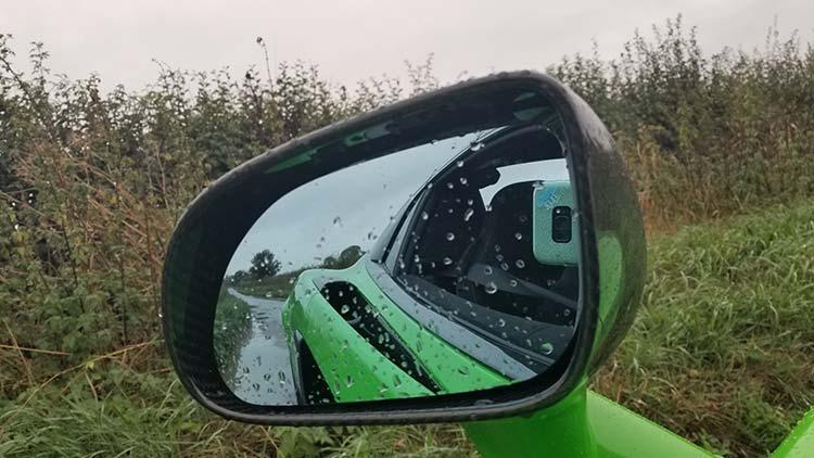 McLaren 570 Spyder Mantis Green Supercar revision mirror