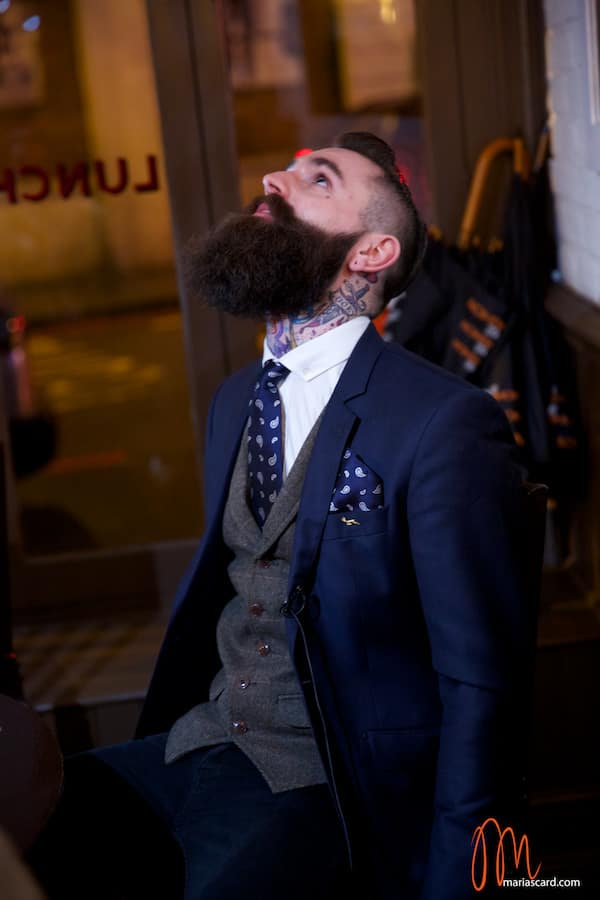 Ricki Hall Movember Beard male model menstylefashion 2014 exclusive (2)