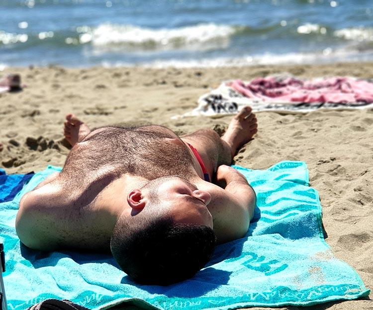 Swimwear Speedo on the beach at Lido di Camaiore
