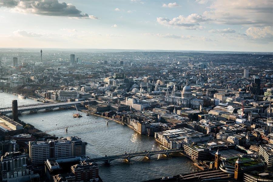 London skyline river thames