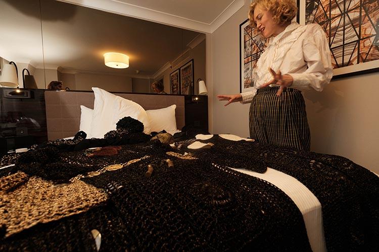 MIHAELA MARKOVIC 2019 Knitwear Black Strand Palace Hotel London United Kingdom Fashion (18)
