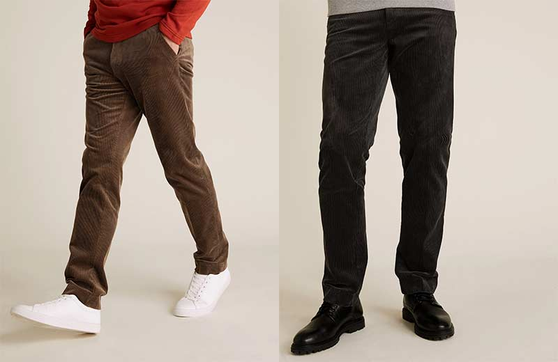 Corduroy trousers from Marks and Spencers