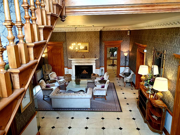 Reception area Brockencote Hall Hotel Worcestershire Eden Collection 2020 menstylefashion review (5)