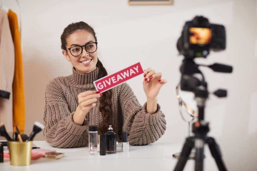 Hold promotional contests and giveaways