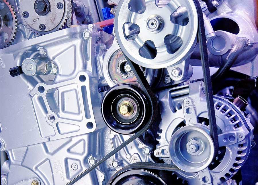 Serpentine belt car engine