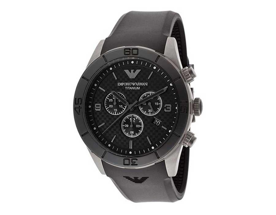 Emporio Armani Sportivo Silicone Strap Watch AR9500