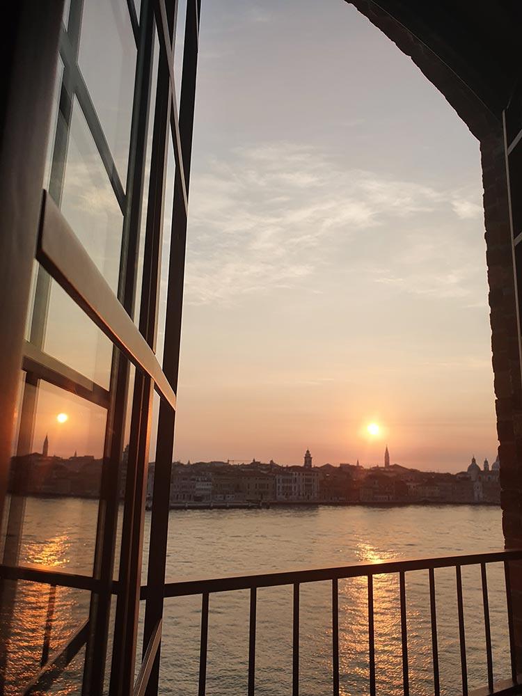 Hilton Molino Stucky Venice - Flour Factory Preserving Italian History room 502 sunrise