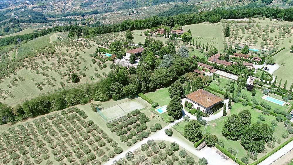 Aerial View Fattoria Mansi Bernardini