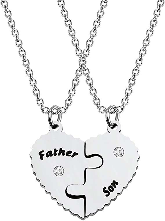 father son necklaces
