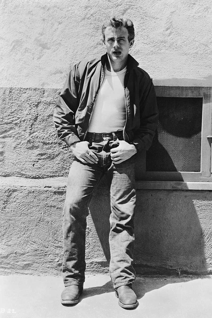 James Dean white shirt and jeans