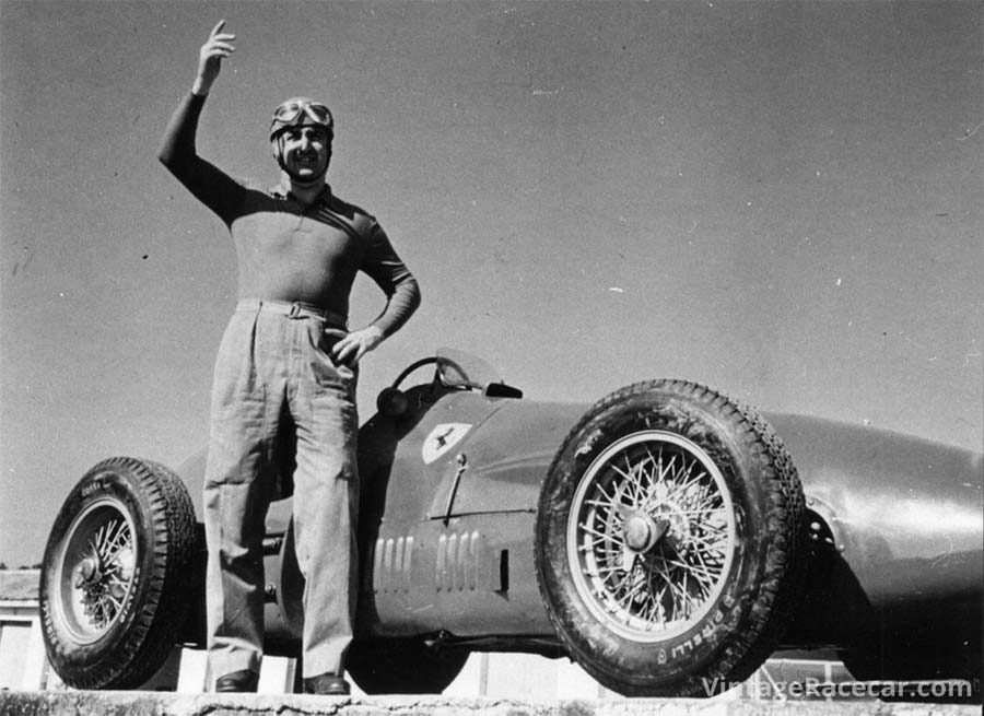 Alberto Ascari racing for Ferrari