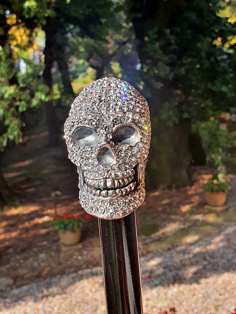 Archer Adams - Damien' Swarovski Skull Umbrella