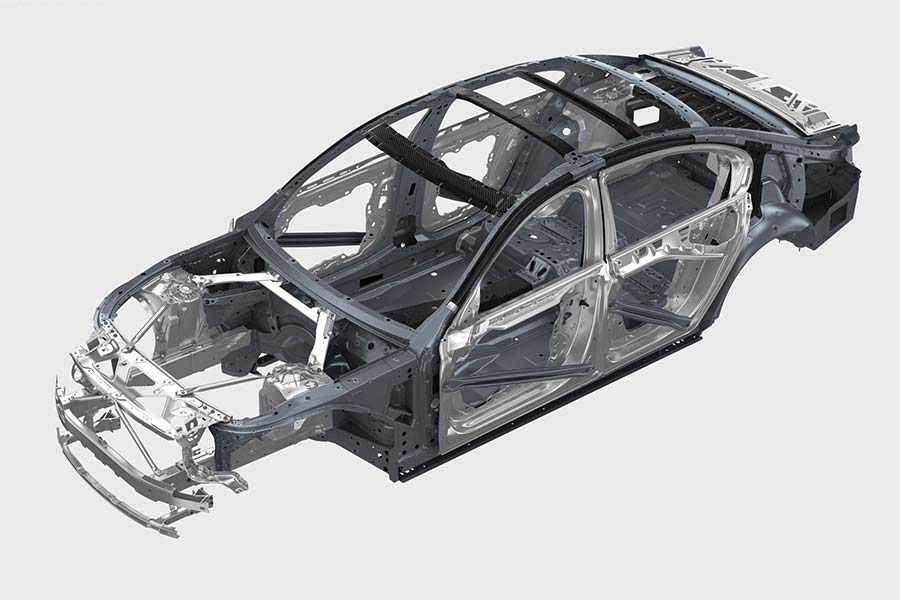 BMW 7 series carbon chassis