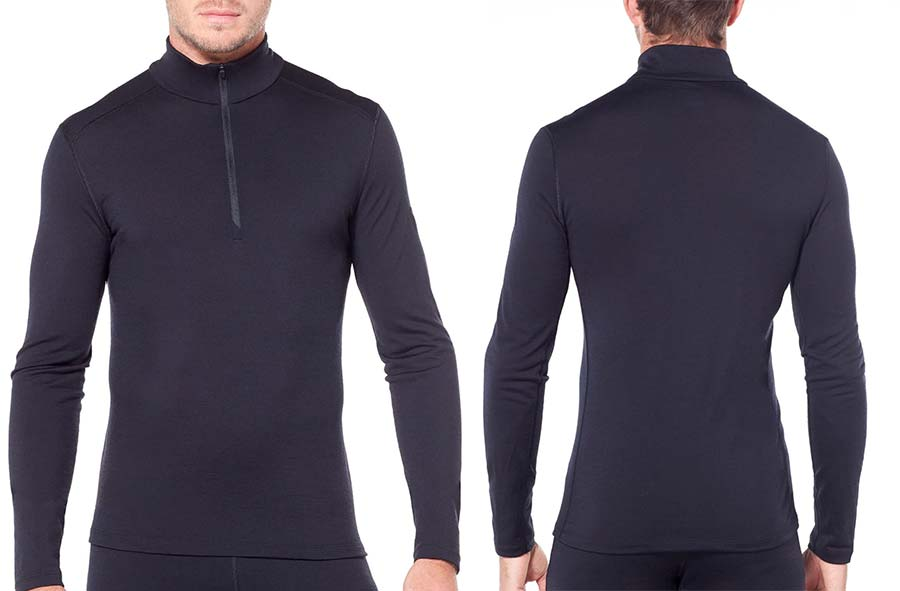 Men's Merino 200 Oasis Long Sleeve Half Zip Thermal Top Icebreaker