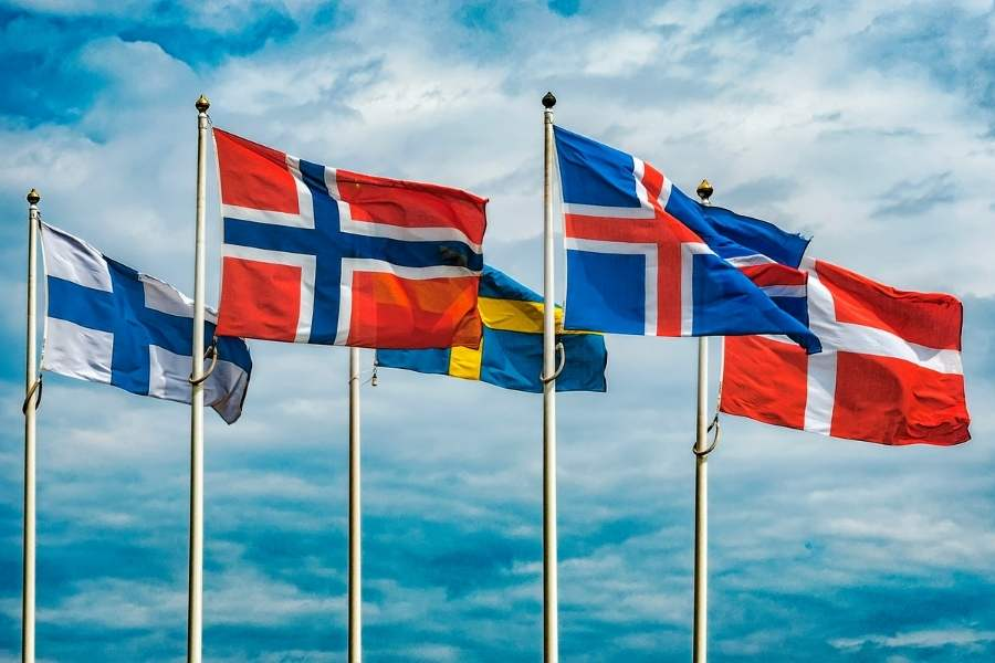The five flags of the Nordics