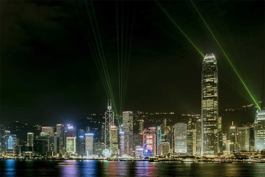 Victoria Harbour Lightshow Hong Kong