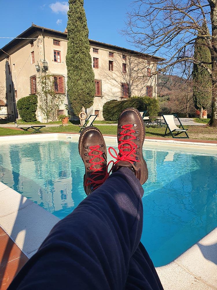 Waxy Suede Hiking Boot – Dark Brown Fratelli Borgioli Italy MenStyleFashion 2020 (1)