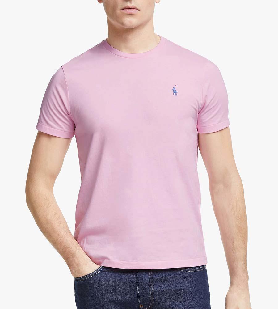 Polo Ralph Lauren Short Sleeve Custom Fit Crew Neck T-Shirt, Garden Pink