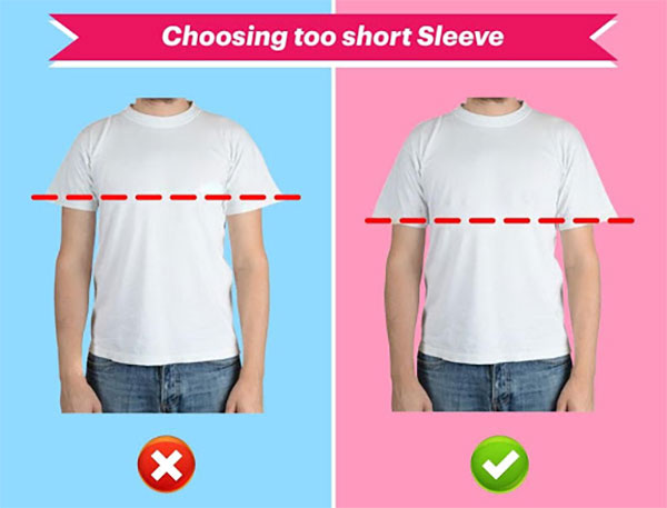 choosing too short sleeve
