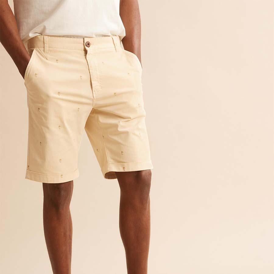 Cyrillus Paris Palm print Bermuda Shorts