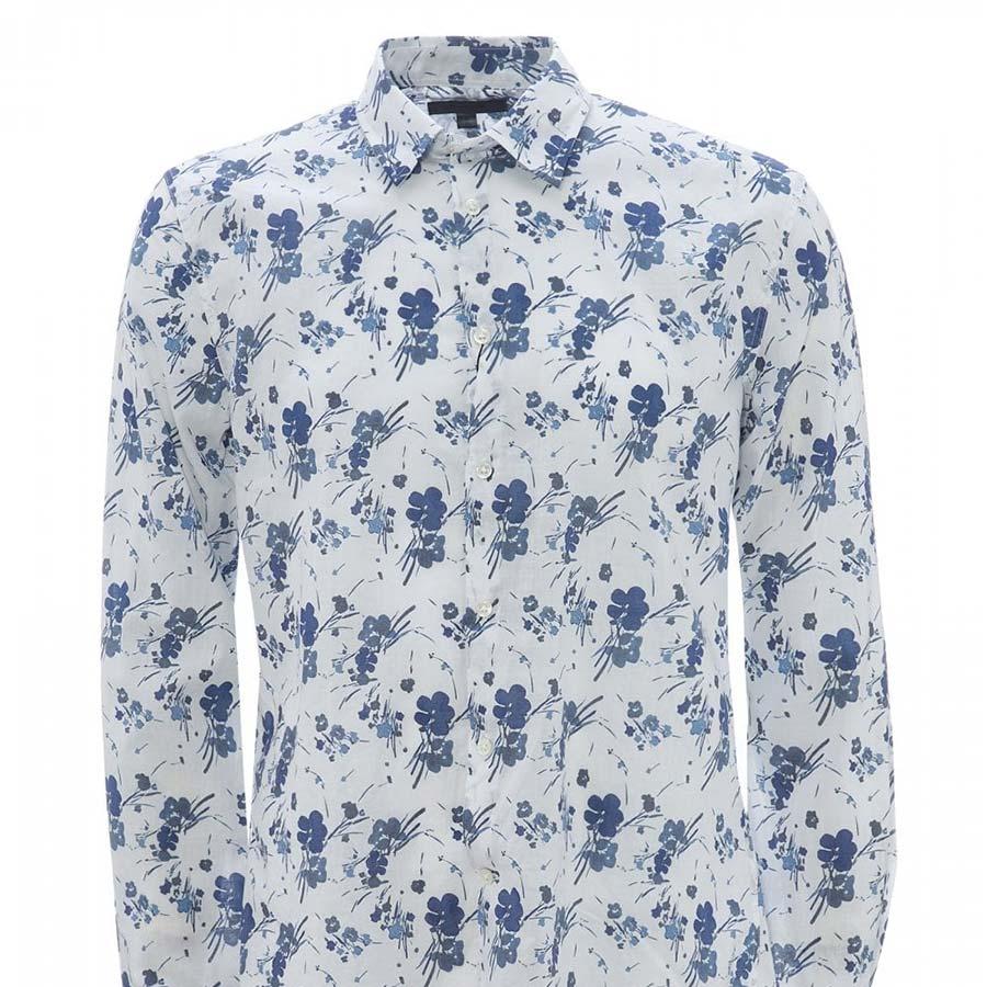 JOHN VARVATOS Floral Shirt