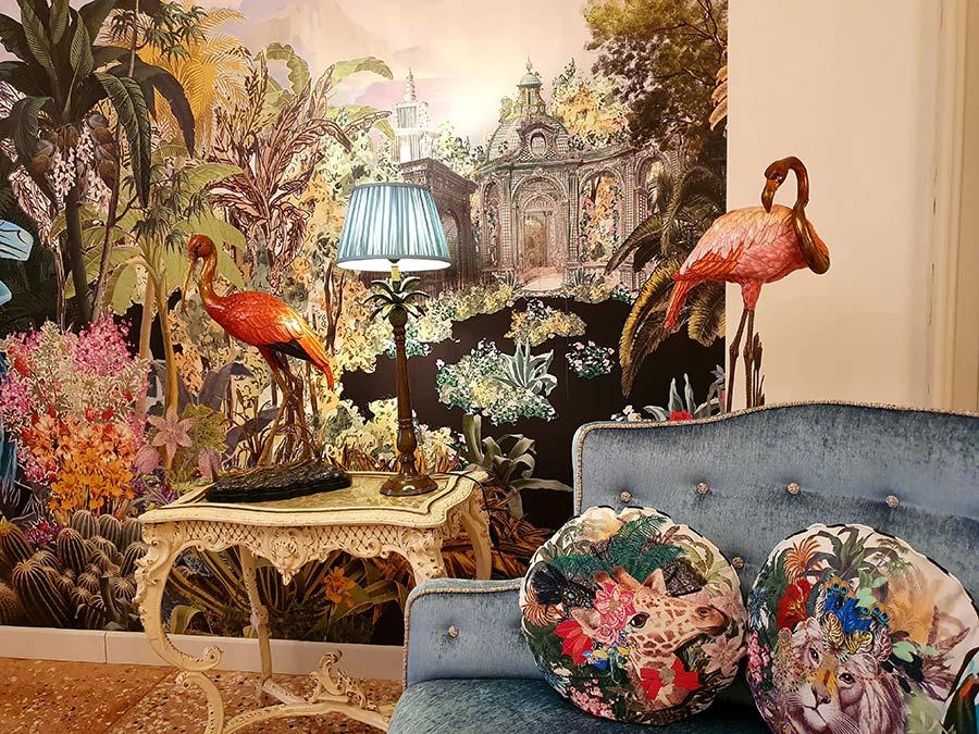 wallpaper art Palazzo Heureka Reception Hotel Venice