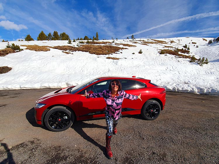 Experiencing the I-PACE at 2000m altitude in Andorra