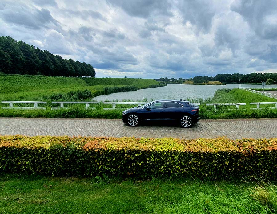 The I-PACE in the fortified town of Huesden