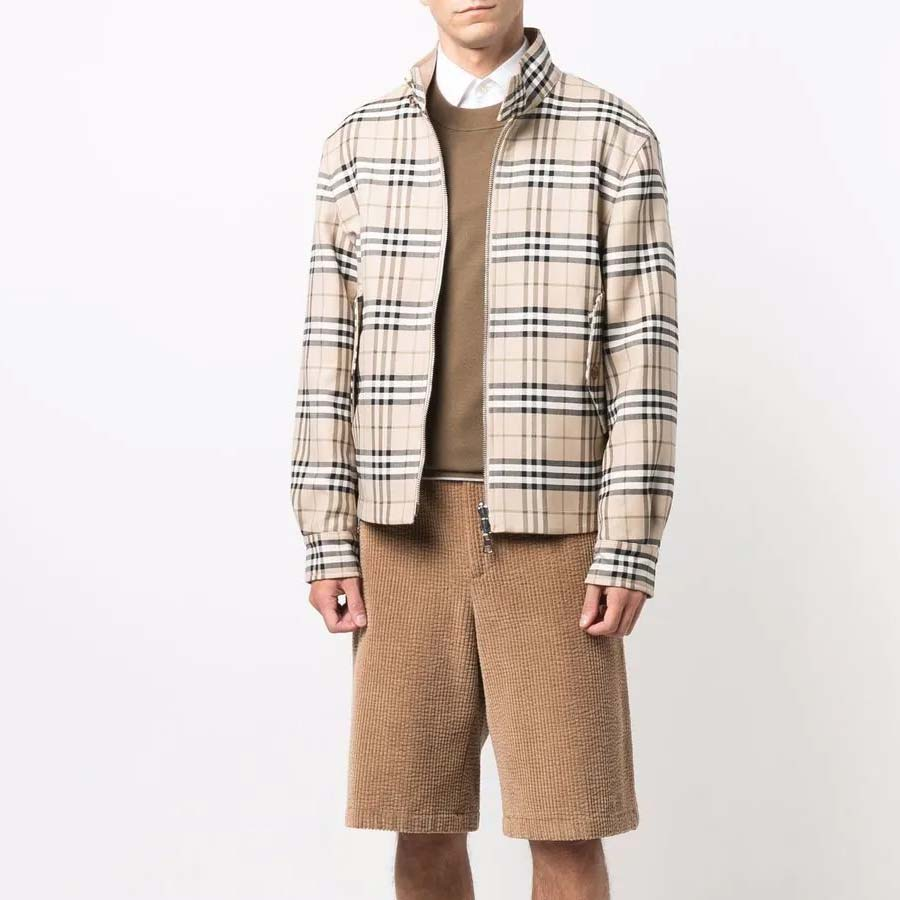 Harrington check pattern jacket Burberry