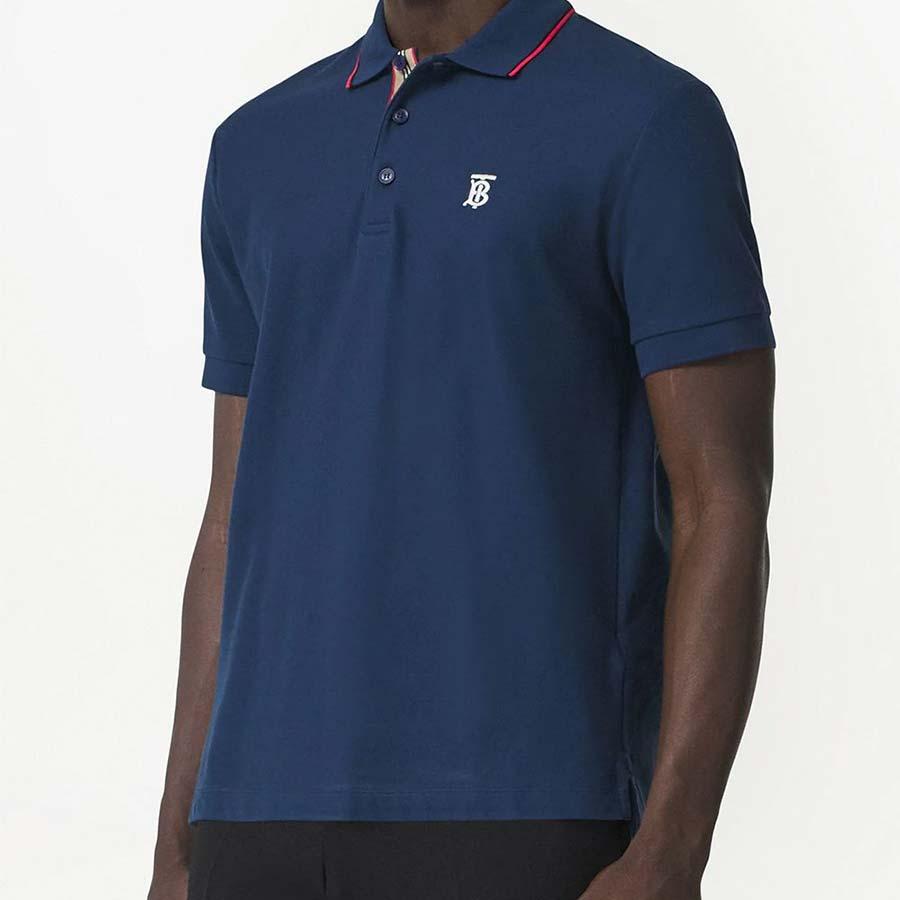 Monogram Motif Cotton Pique Polo Shirt Burberry