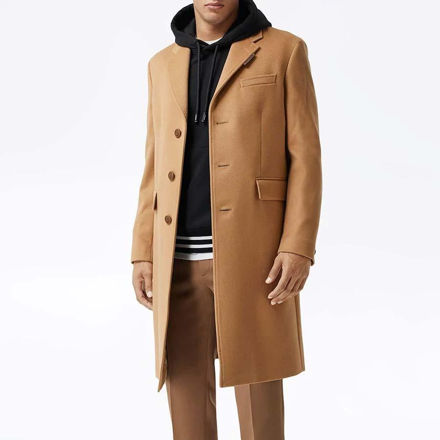 Abrigo de tailored con botonadura sencilla Burberry