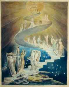 Figure 18.1 Blake's Angels ascending a celestial staircase. Details get less certain with more distance