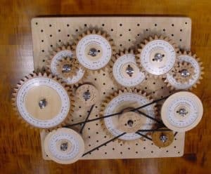Induction. A verbal description does not always suffice. A collection of gears with interlapping pulleys doesn't describe the overall result.