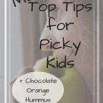 Girl eating apple with text overlay - More top tips for picky kids
