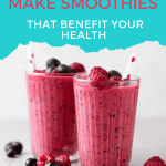 how to make healthy smoothies pin image 5