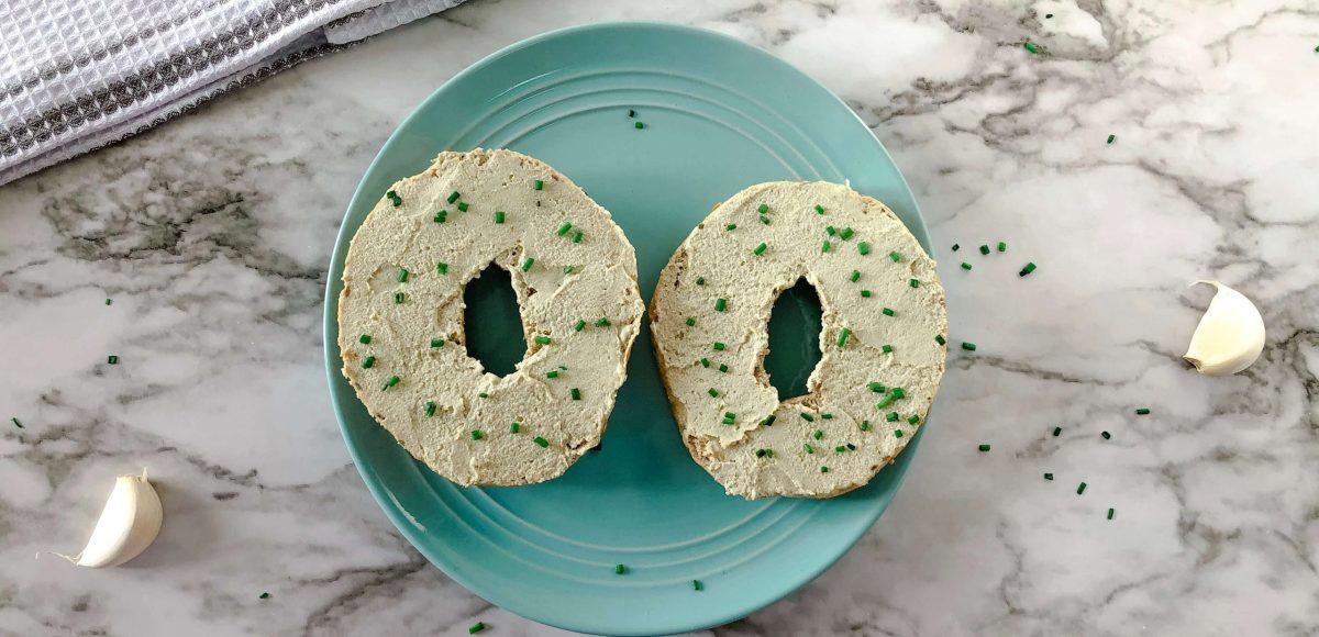vegan cream cheese recipe feature image