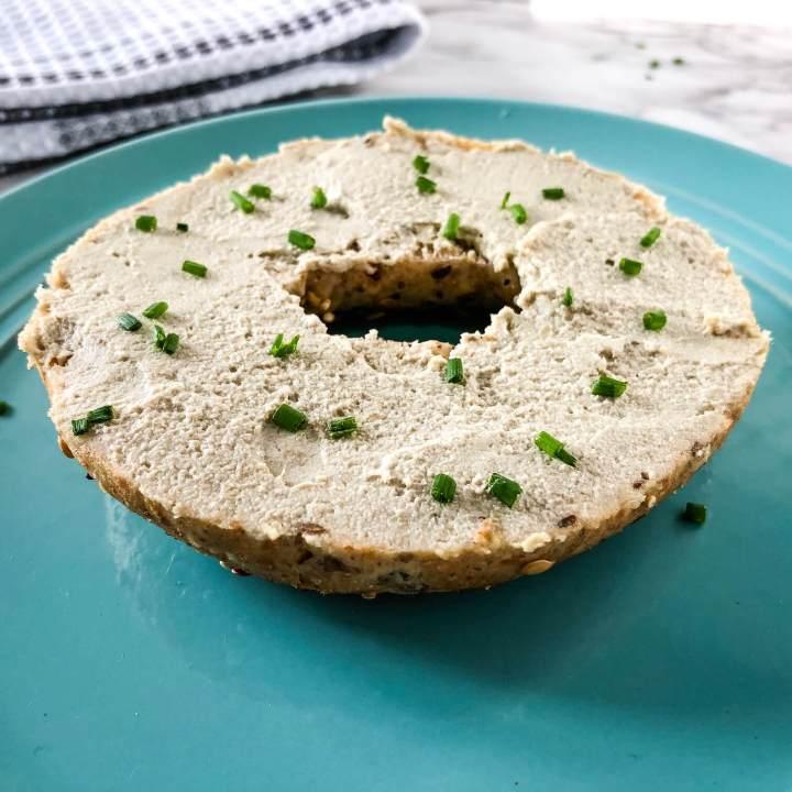 vegan cream cheese recipe card image