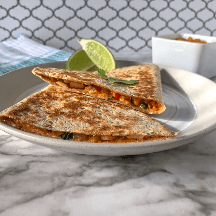 Quick & Easy Vegan Quesadillas