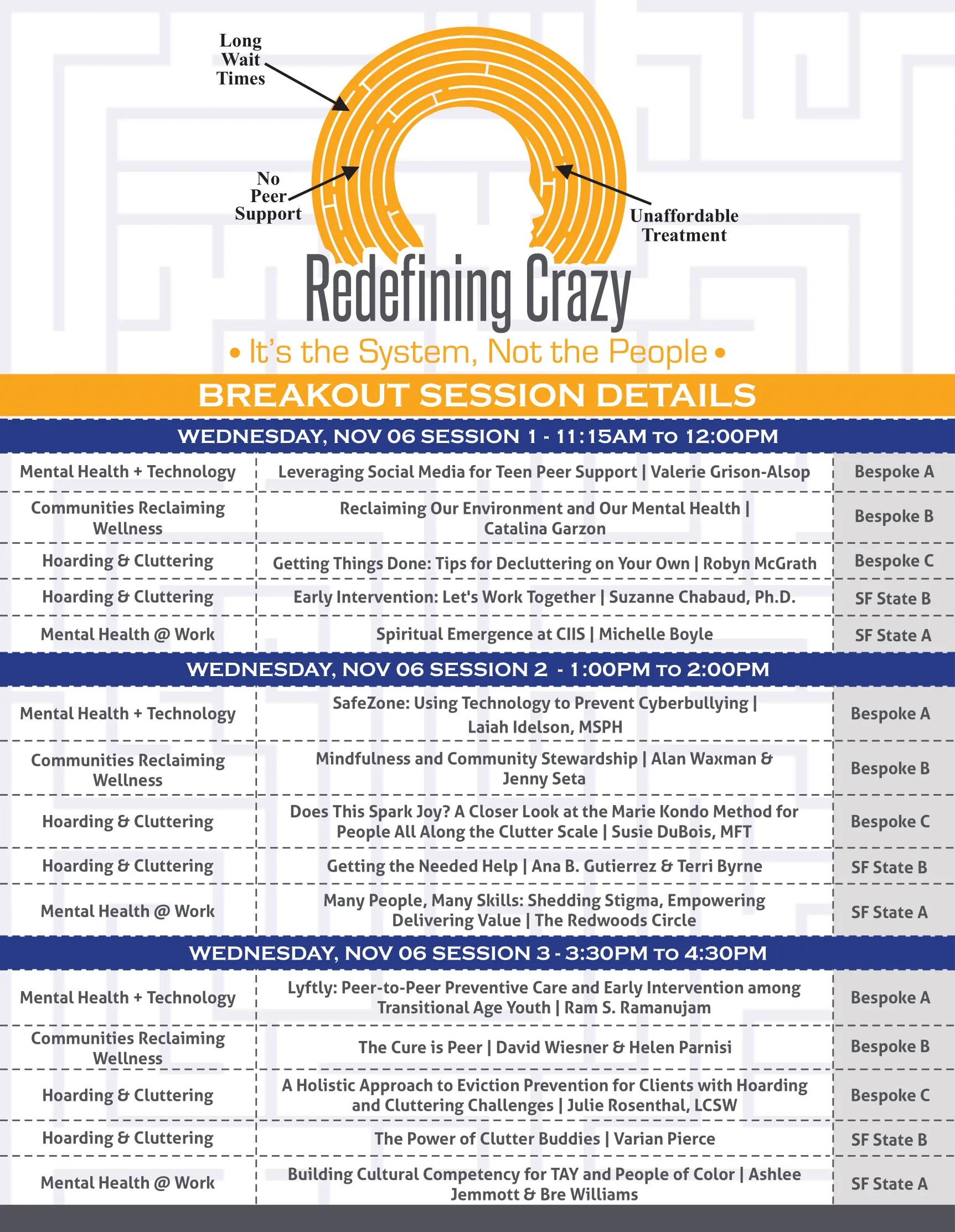 Redefining Crazy 2019 Session Schedule (1)-1