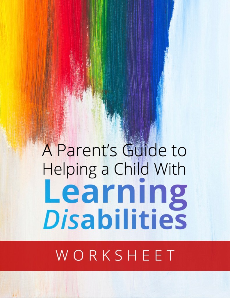 Learning Disabilities Worksheet