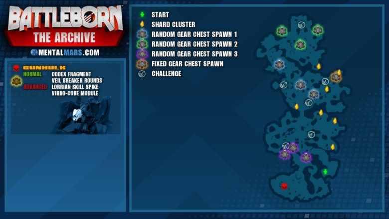 Battleborn Story Mission - The Archive Overview Map
