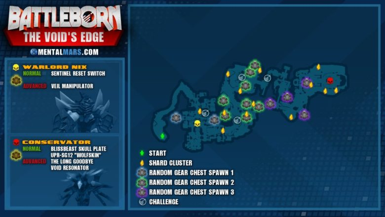 Battleborn Story Mission - The Void's Edge Overview Map