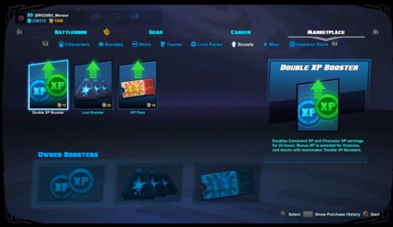 Battleborn New Booster UI
