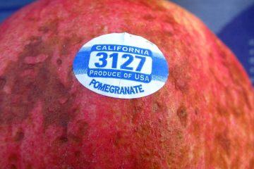 etiqueta fruta verdura