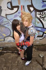 Cloud Strife e Tifa Lockhart versione Yoshitaka Amano - Dissidia 012 Final Fantasy