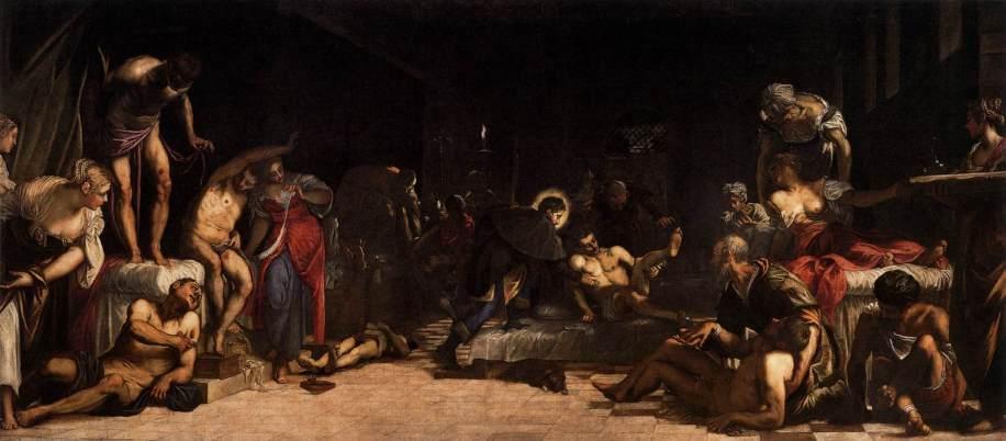 San Rocco risana gli appestati - Tintoretto