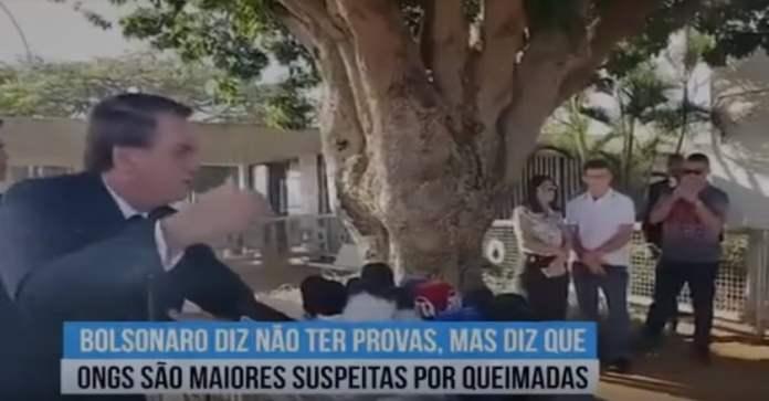 bolsonaro acusa ongs de queimadas na amazonia