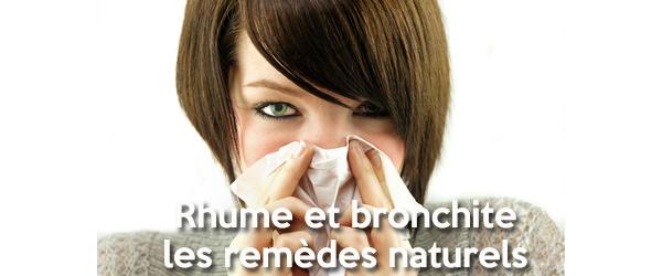 Remèdes naturels pour soigner le rhume et la bronchite